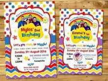 Wiggles Birthday Invitation Template