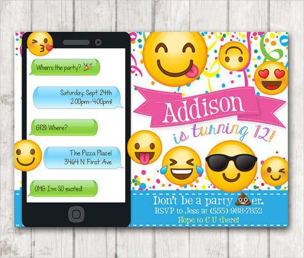 53 How To Create Emoji Birthday Party Invitation Template Free Download for Emoji Birthday Party Invitation Template Free