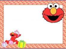 53 Printable Elmo Birthday Invitation Template With Stunning Design for Elmo Birthday Invitation Template