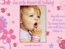 53 Report Birthday Invitation Template For Baby Girl in Word for Birthday Invitation Template For Baby Girl