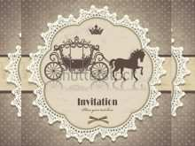 Retro Invitation Template Vector Free Download