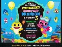 53 Standard Baby Shark Birthday Invitation Template With Stunning Design for Baby Shark Birthday Invitation Template