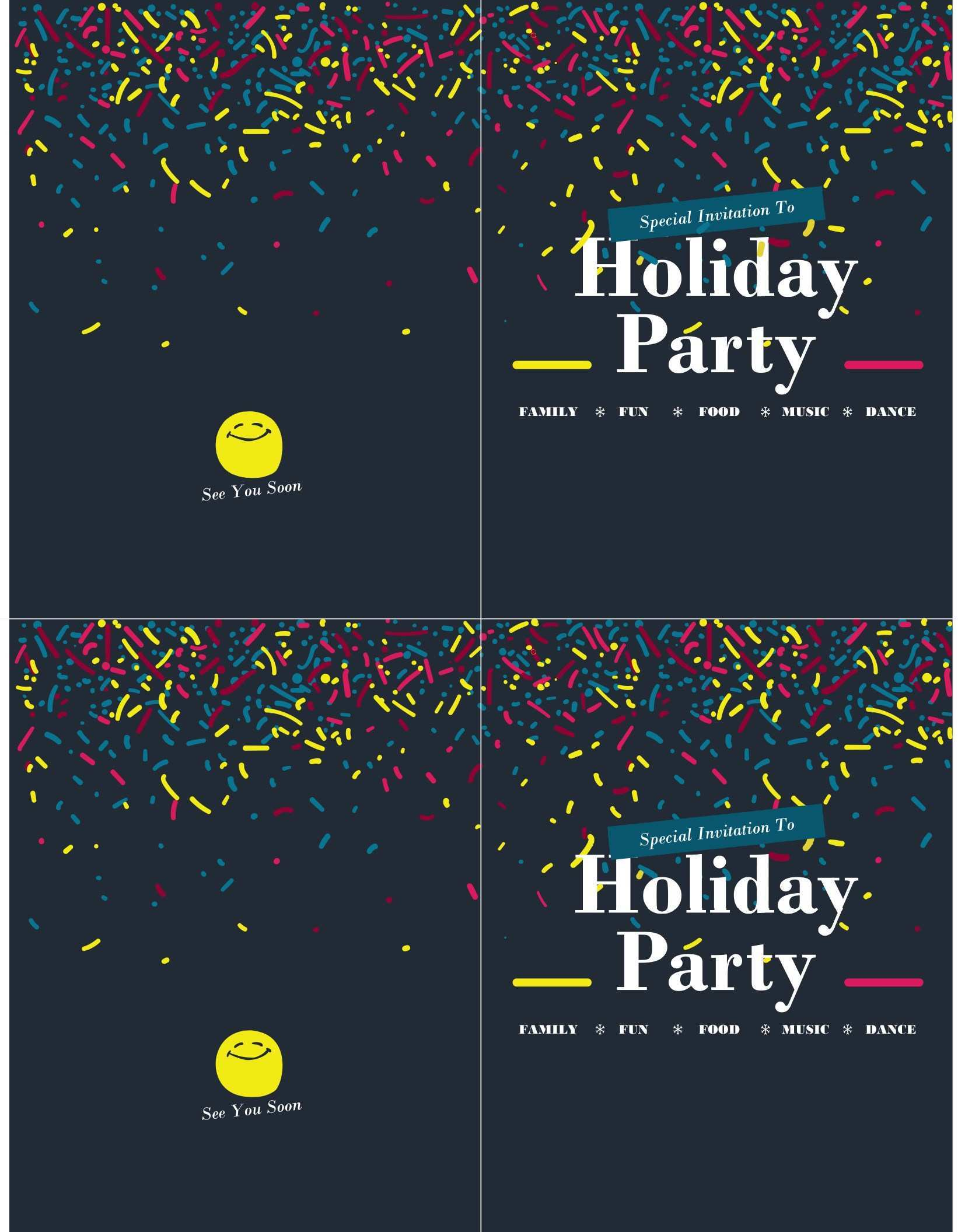4 Standard Party Invitation Template Open Office PSD File for