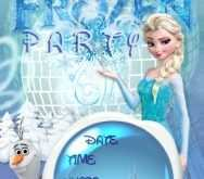 53 The Best Elsa Party Invitation Template Now by Elsa Party Invitation Template