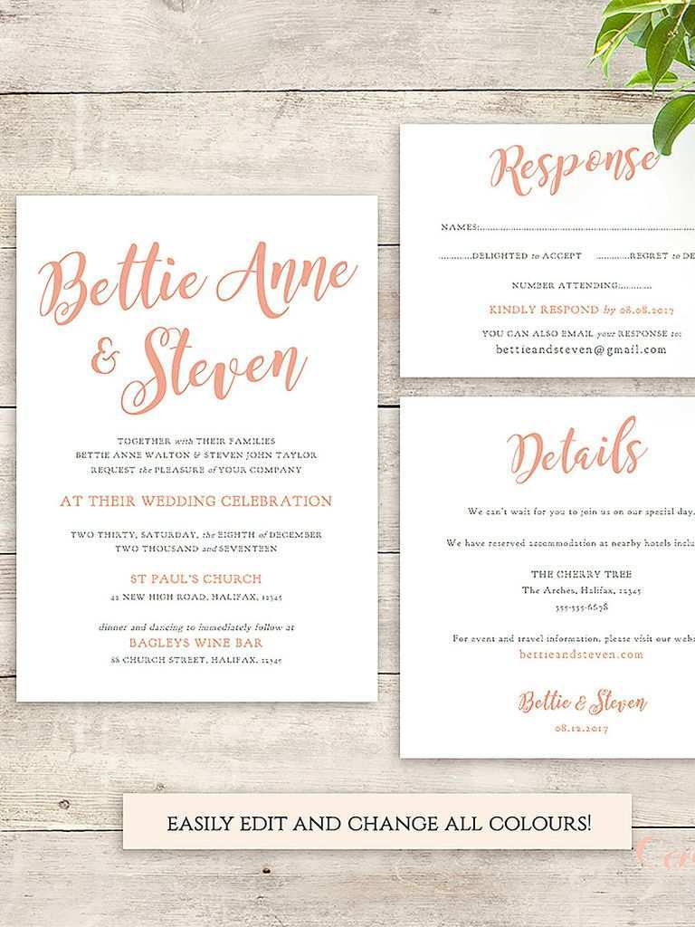 53 Visiting Diy Wedding Invitation Template With Stunning Design by Diy Wedding Invitation Template