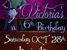 Vampirina Birthday Invitation Template