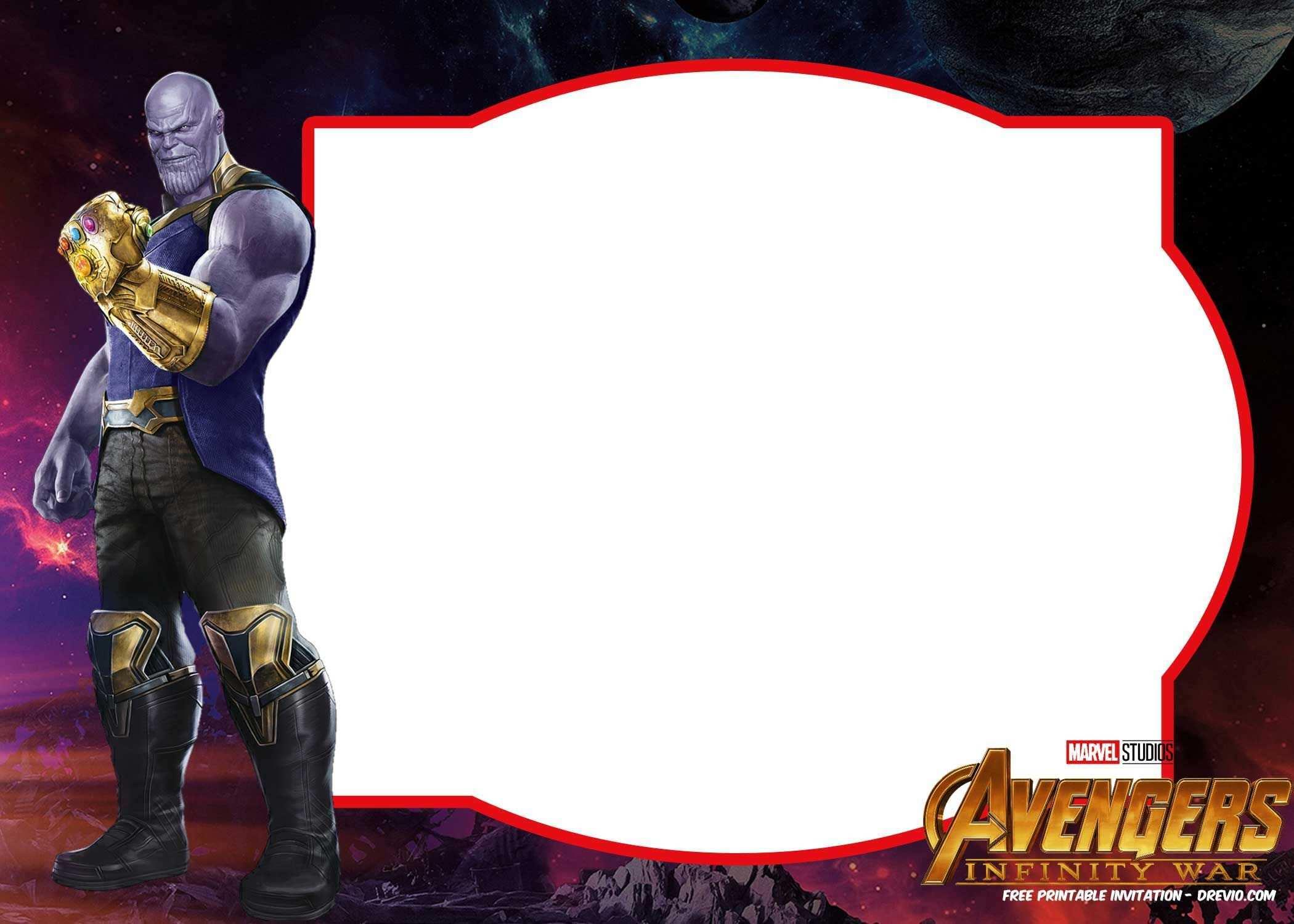 54 Customize Avengers Birthday Invitation Template in Photoshop for Avengers Birthday Invitation Template