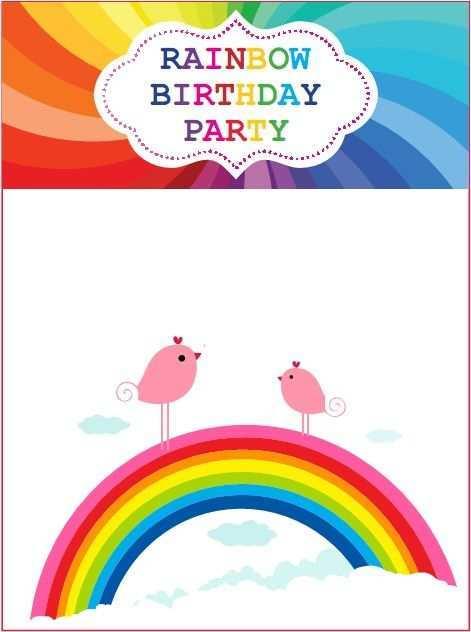 54 Customize Birthday Invitation Template Rainbow Photo for Birthday Invitation Template Rainbow