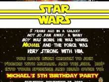 54 Customize Our Free Birthday Invitation Template Star Wars With Stunning Design by Birthday Invitation Template Star Wars