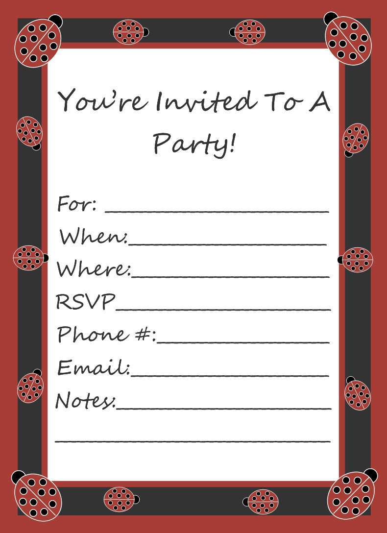 54 Format Ks1 Party Invitation Template for Ms Word with Ks1 Party Invitation Template