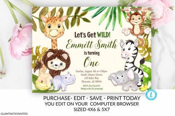 54 Format Zoo Birthday Party Invitation Template Now by Zoo Birthday Party Invitation Template