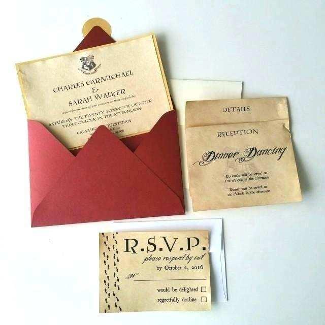 54 Free Harry Potter Wedding Invitation Template Maker by Harry Potter Wedding Invitation Template