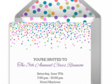 Example Of Invitation Card For Reunion