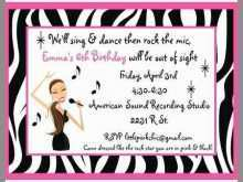 54 Standard Karaoke Party Invitation Template For Free for Karaoke Party Invitation Template