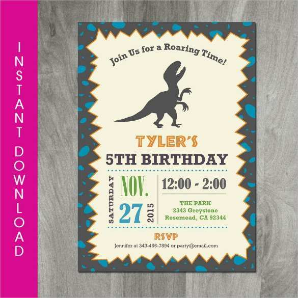54 Visiting Blank Dinosaur Invitation Template Formating by Blank Dinosaur Invitation Template