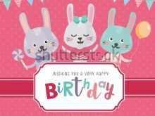 55 Best Bunny Birthday Invitation Template Free PSD File with Bunny Birthday Invitation Template Free