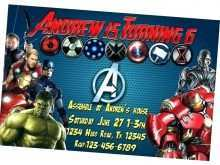55 Create Avengers Party Invitation Template Templates with Avengers Party Invitation Template