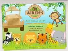 55 Create Birthday Invitation Template Jungle Theme For Free by Birthday Invitation Template Jungle Theme