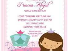 55 Creative Princess Birthday Invitation Template Photo by Princess Birthday Invitation Template