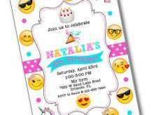55 Customize Emoji Party Invitation Template PSD File with Emoji Party Invitation Template