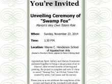 55 Customize Our Free Example Of Unveiling Invitation Card With Stunning Design by Example Of Unveiling Invitation Card