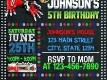 Power Rangers Birthday Invitation Template