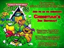 55 Format Ninja Turtle Birthday Invitation Template in Photoshop with Ninja Turtle Birthday Invitation Template