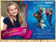 55 The Best Birthday Invitation Templates Elsa Layouts by Birthday Invitation Templates Elsa
