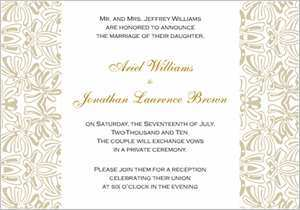 56 Adding Example Of Wedding Invitation With Reception Wording for Ms Word by Example Of Wedding Invitation With Reception Wording