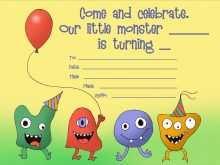 56 Best Monster Birthday Invitation Template Formating for Monster Birthday Invitation Template