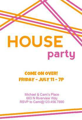 56 Creative House Party Invitation Template Maker by House Party Invitation Template