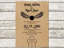 56 Customize Our Free Harry Potter Wedding Invitation Template Download with Harry Potter Wedding Invitation Template