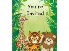 56 Format Birthday Invitation Template Jungle Theme Formating for Birthday Invitation Template Jungle Theme