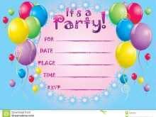 56 How To Create Birthday Invitation Template Balloons Formating for Birthday Invitation Template Balloons