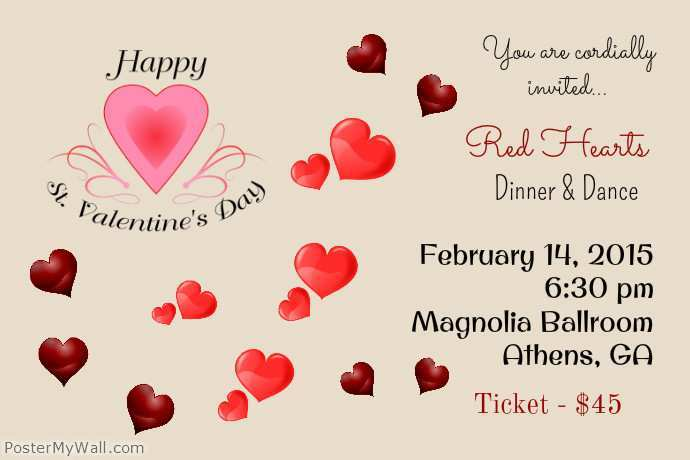 56 Visiting Valentine Party Invitation Template in Photoshop with Valentine Party Invitation Template