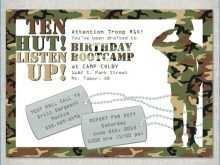57 Adding Army Birthday Invitation Template PSD File for Army Birthday Invitation Template