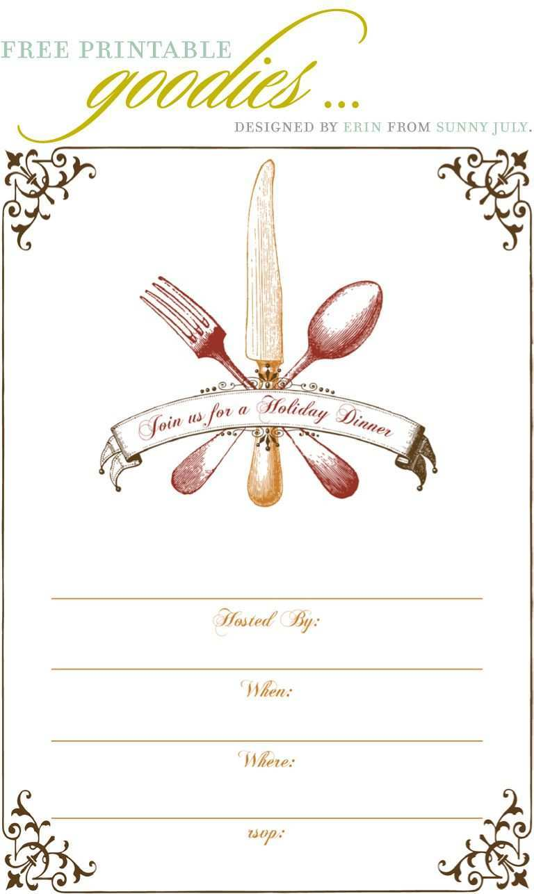 57 Best Dinner Invitation Template Free for Ms Word for Dinner Invitation  Template Free - Cards Design Templates