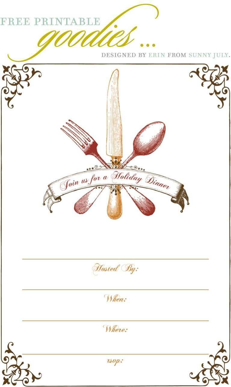 4 Best Dinner Invitation Template Free for Ms Word for Dinner