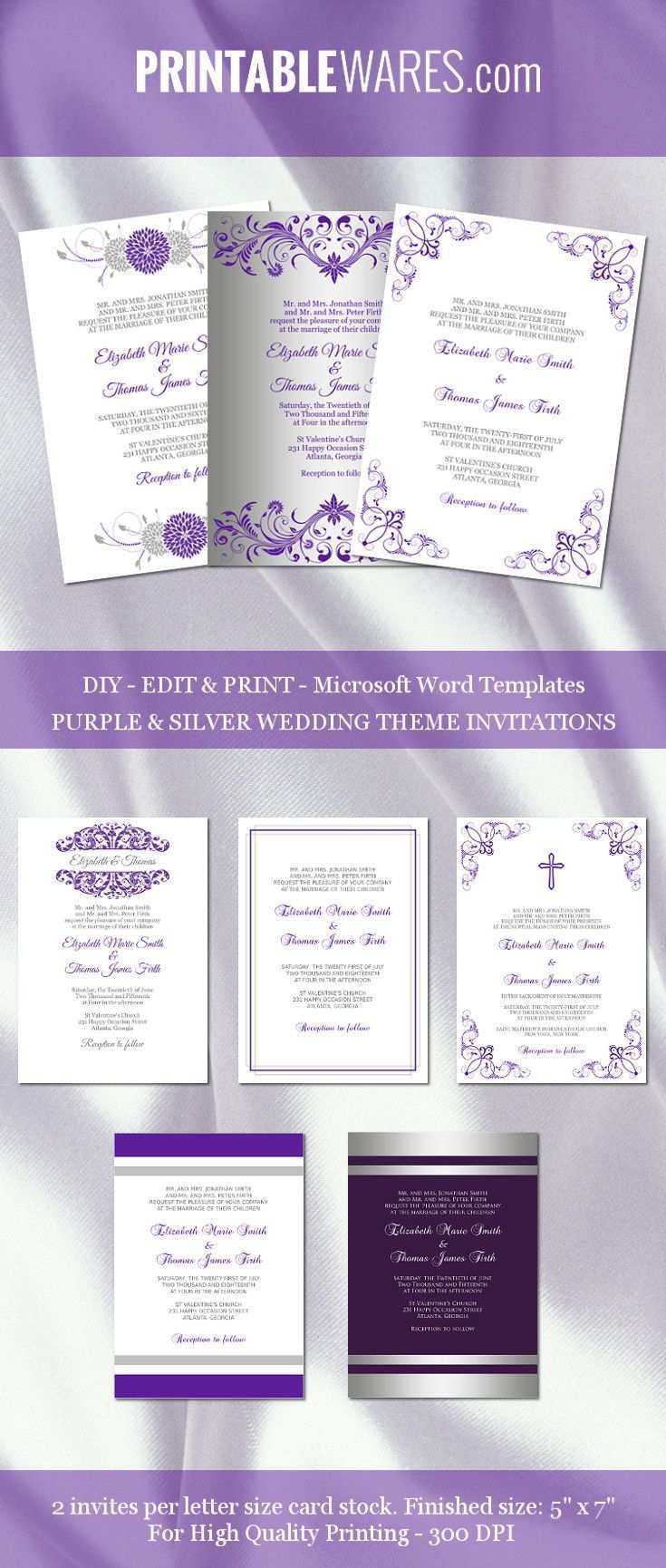 57 Blank Wedding Invitation Templates Violet With Stunning Design for Wedding Invitation Templates Violet
