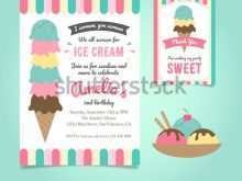 57 Customize Ice Cream Birthday Invitation Template Free Formating for Ice Cream Birthday Invitation Template Free