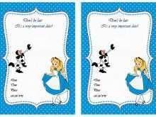 57 Format Blank Alice In Wonderland Invitation Template Layouts for Blank Alice In Wonderland Invitation Template
