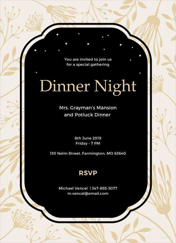57 Free Printable Dinner Invitation Template Free Formating with Dinner Invitation Template Free