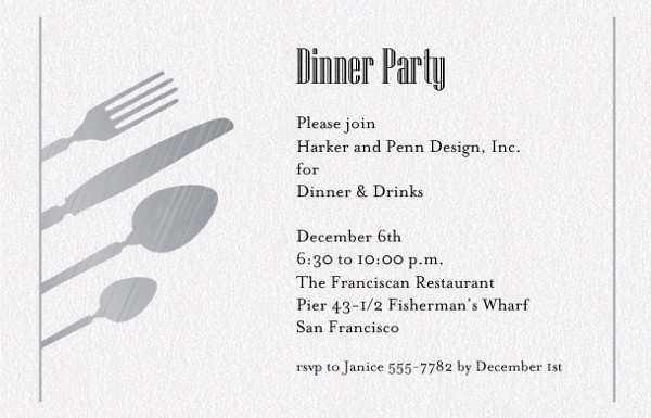 57 How To Create Business Dinner Invitation Example Maker with Business Dinner Invitation Example