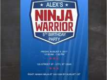 57 Online Ninja Warrior Birthday Invitation Template Free Formating with Ninja Warrior Birthday Invitation Template Free