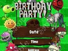 57 Online Plants Vs Zombies Birthday Invitation Template Download by Plants Vs Zombies Birthday Invitation Template