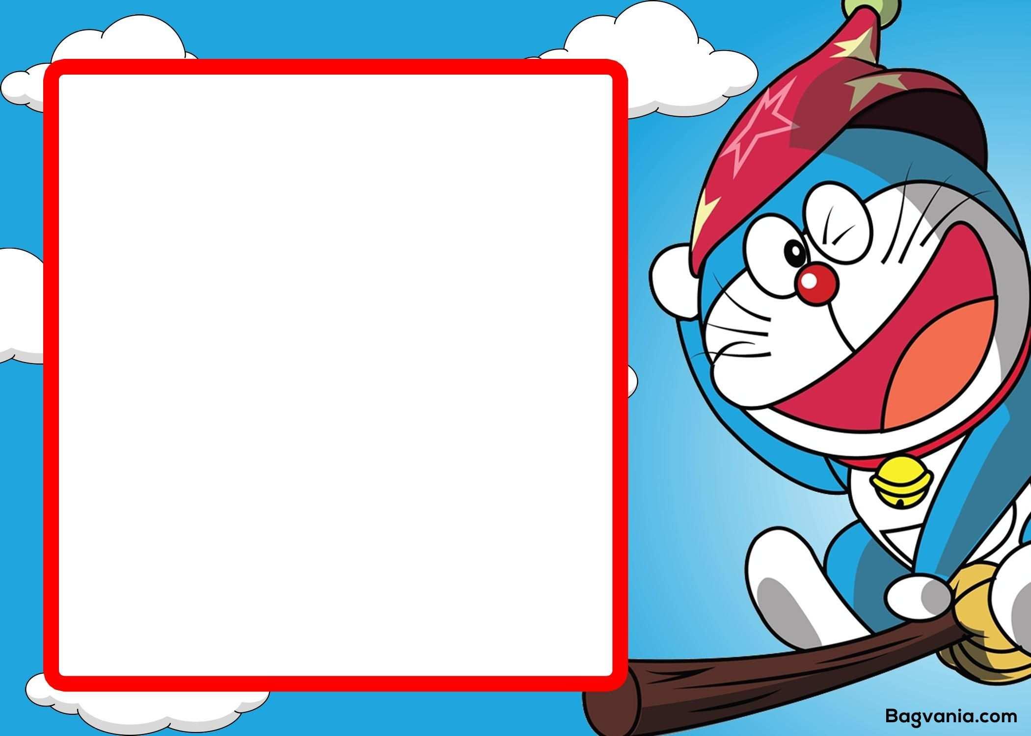 57 Printable Doraemon Birthday Invitation Template in Photoshop with Doraemon Birthday Invitation Template