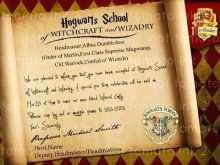 Harry Potter Birthday Invitation Template