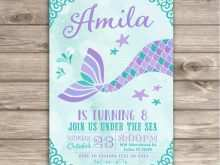 57 Printable Mermaid Birthday Invitation Template Formating with Mermaid Birthday Invitation Template