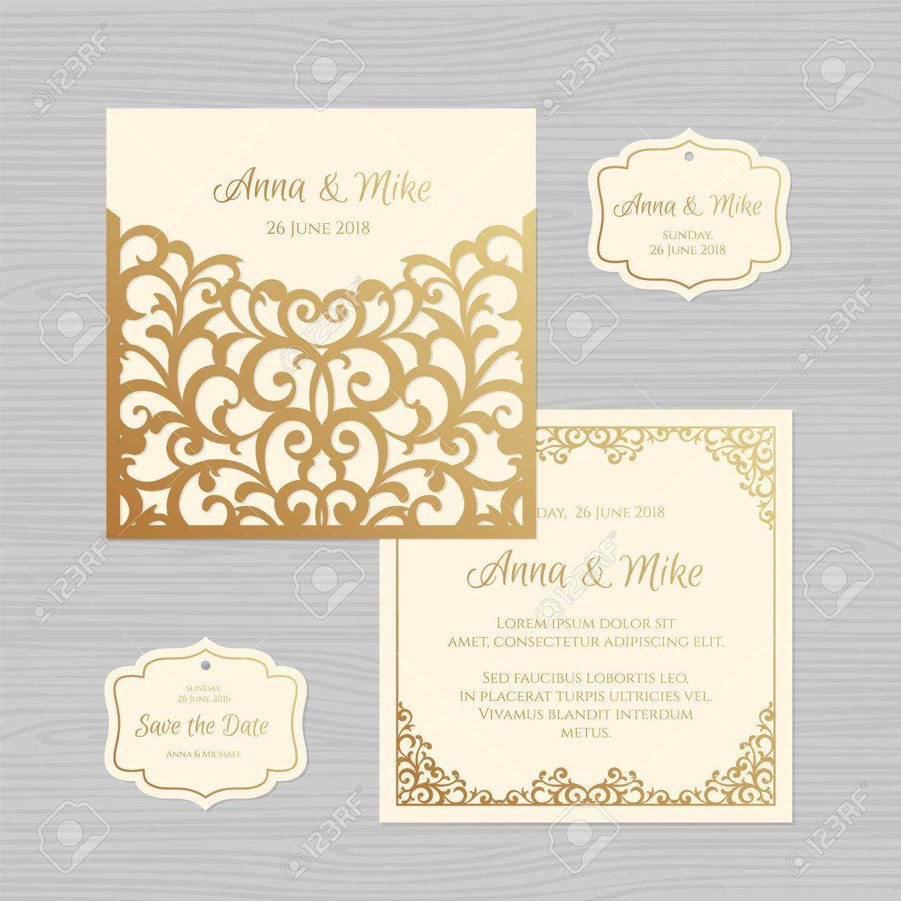 4 Printable Vector Wedding Invitation Envelope Template Templates