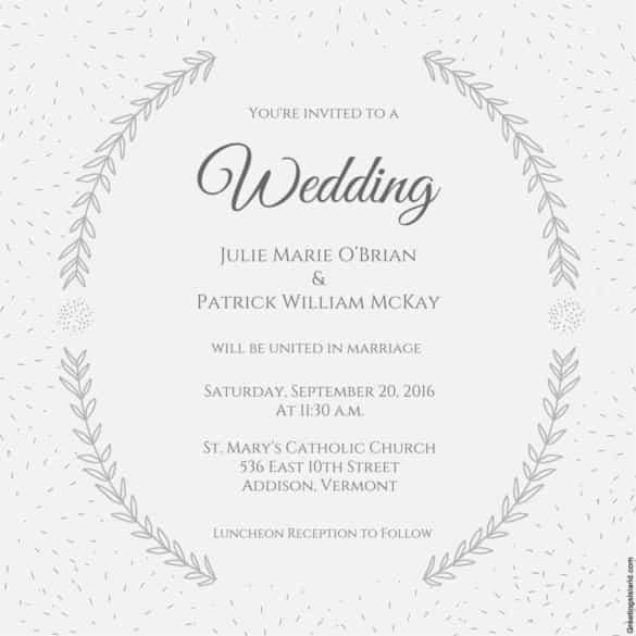 57 Printable Wedding Invitation Template Download And Print Layouts for Wedding Invitation Template Download And Print
